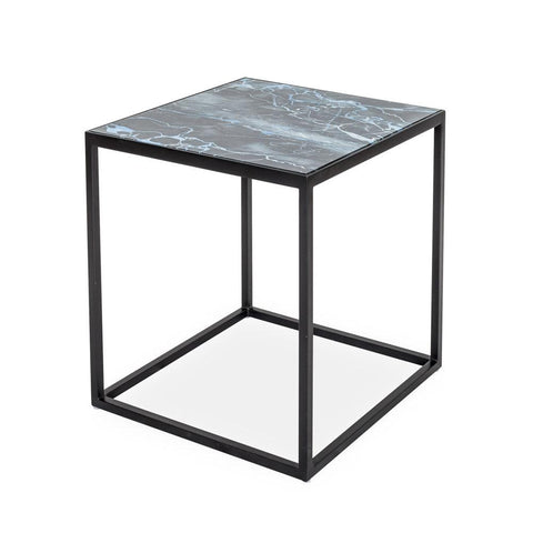 Portia Glass Side Table ONYX MARBLE