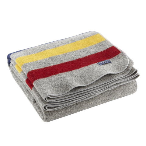 Revival Stripe Wool Throw by Faribault GREY/MULTI - Apt2B - 1