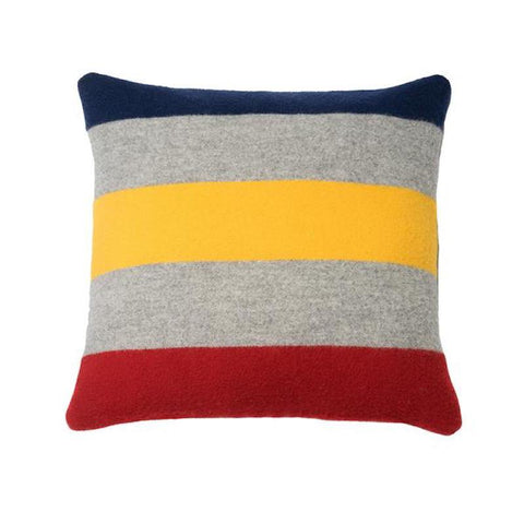 Revival Stripe Wool Pillow by Faribault GREY/MULTI