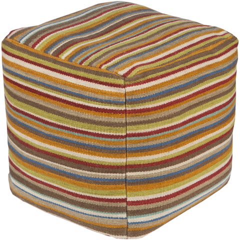 Robinson Striped Pouf