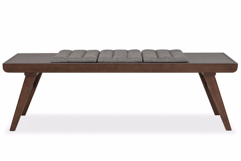 Russell Reversible Bench ASH GREY. Bedroom Benches   Wood  Leather   Upholstered Benches   Apt2B