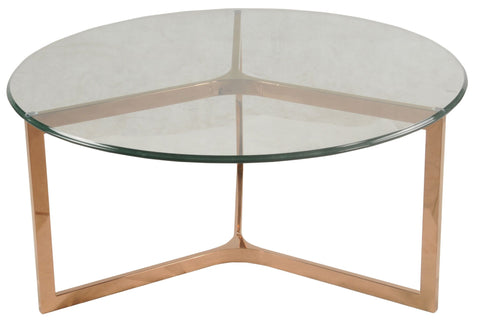 San Clemente Coffee Table ROSE GOLD - Apt2B - 1