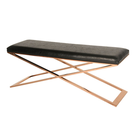 Saticoy Bench BLACK/ROSE GOLD