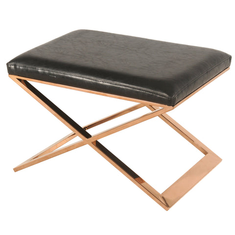 Saticoy Ottoman BLACK/ROSE GOLD