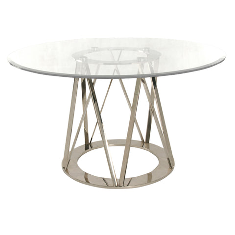 Strata Dining Table POLISHED STEEL - Apt2B