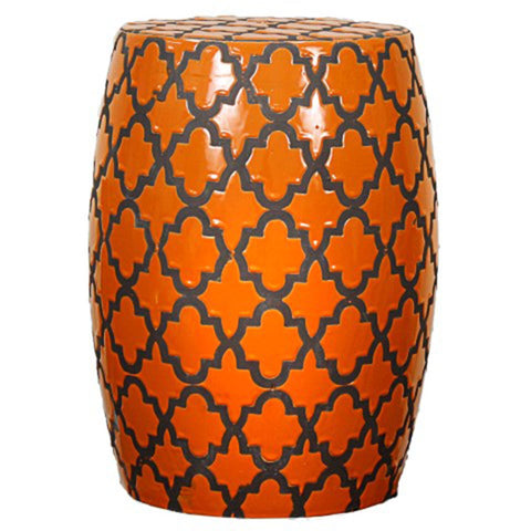 Swift Ceramic Garden Stool TANGERINE