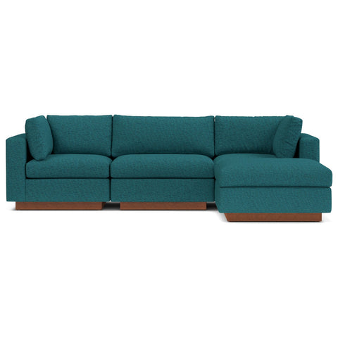 Taylor Plush 4pc Modular Chaise Sectional Sofa