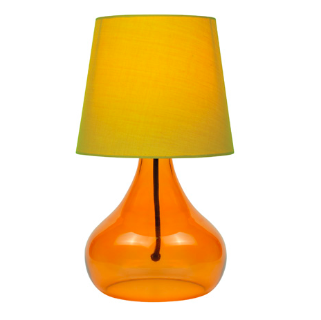 Modern table and side table lamps apt2b techno table lamp orange mozeypictures Image collections