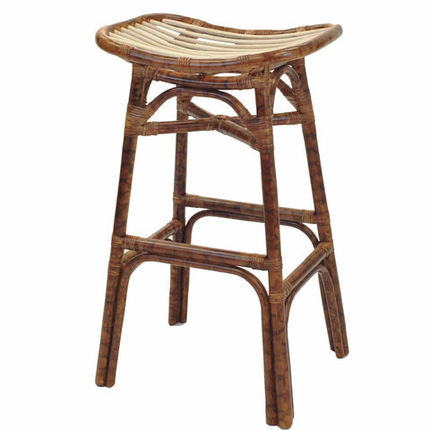 Tortuga Rattan Bar Stool MARBLE BROWN