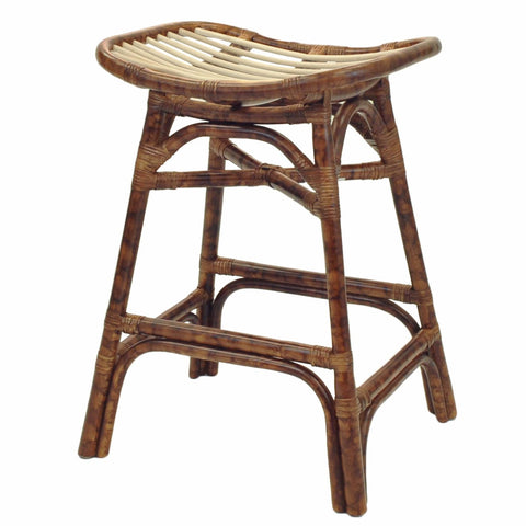 Tortuga Rattan Counter Stool MARBLE BROWN