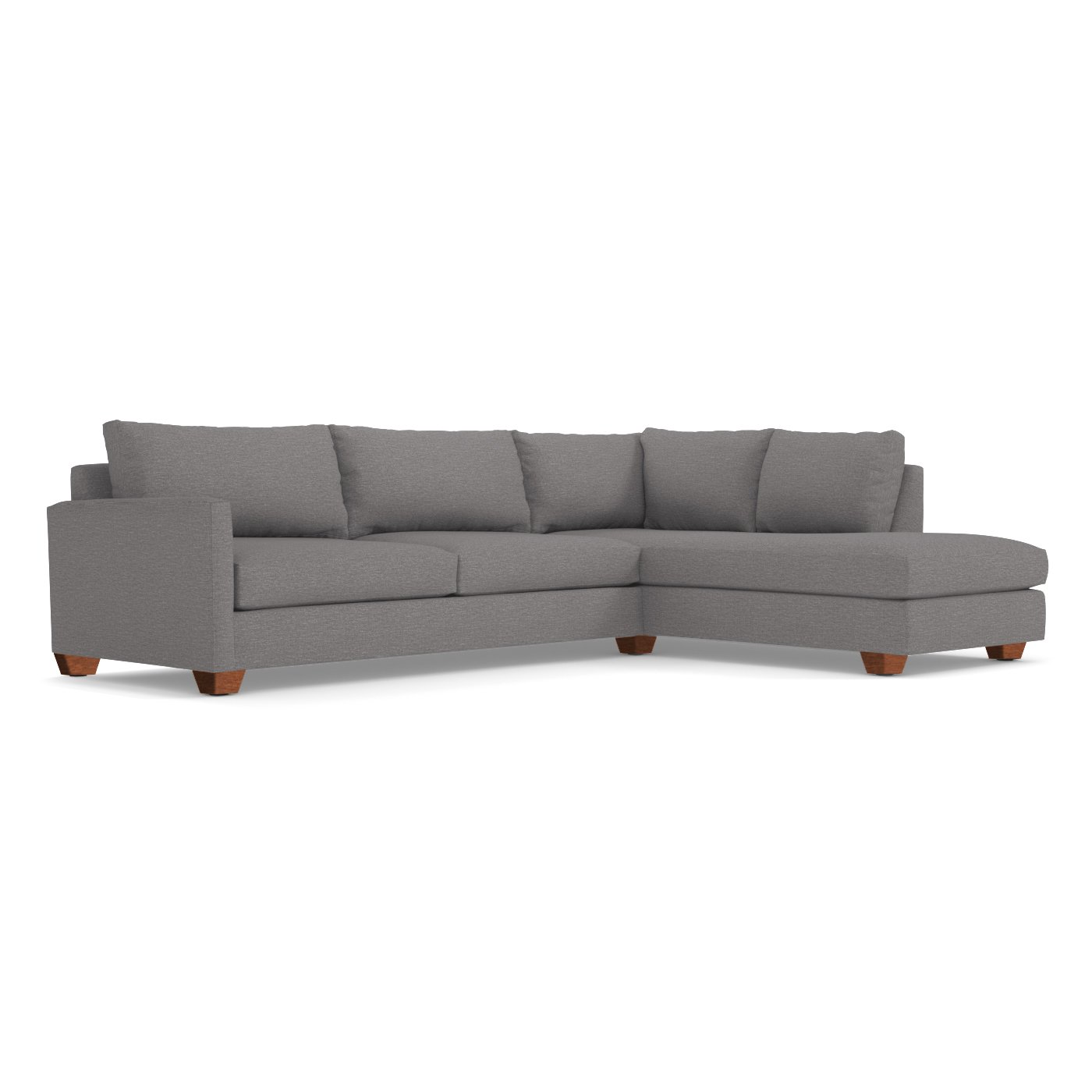 Living Room Furniture Two Piece Sectional Tuxedo Sofa – Apt2B