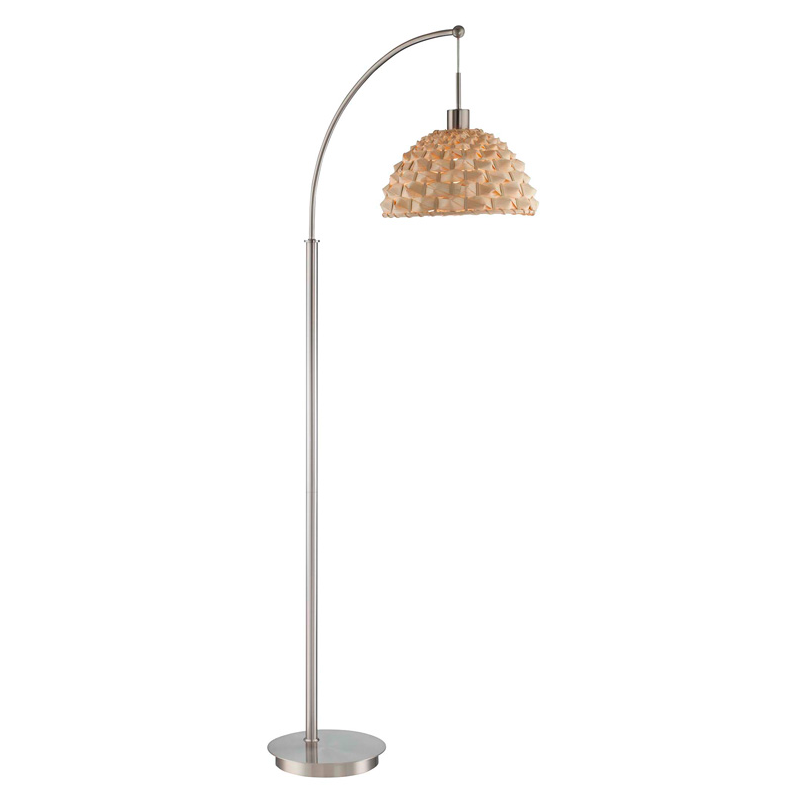 Standing floor lamps apt2b urchin rattan arch floor lamp polished steel mozeypictures Choice Image
