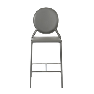 Valencia Ave All Leather Bar Height Stool Set of 2 - Gray