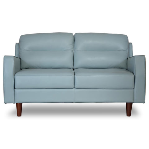 Valley Spring Leather Apartment Size Sofa SKY BLUE - Apt2B - 1
