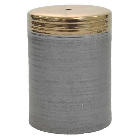 Visalia Ceramic Garden Stool GREY/GOLD