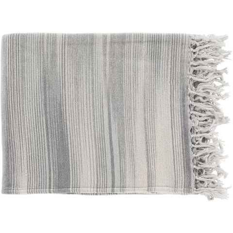 Willows Woven Throw LIGHT GREY
