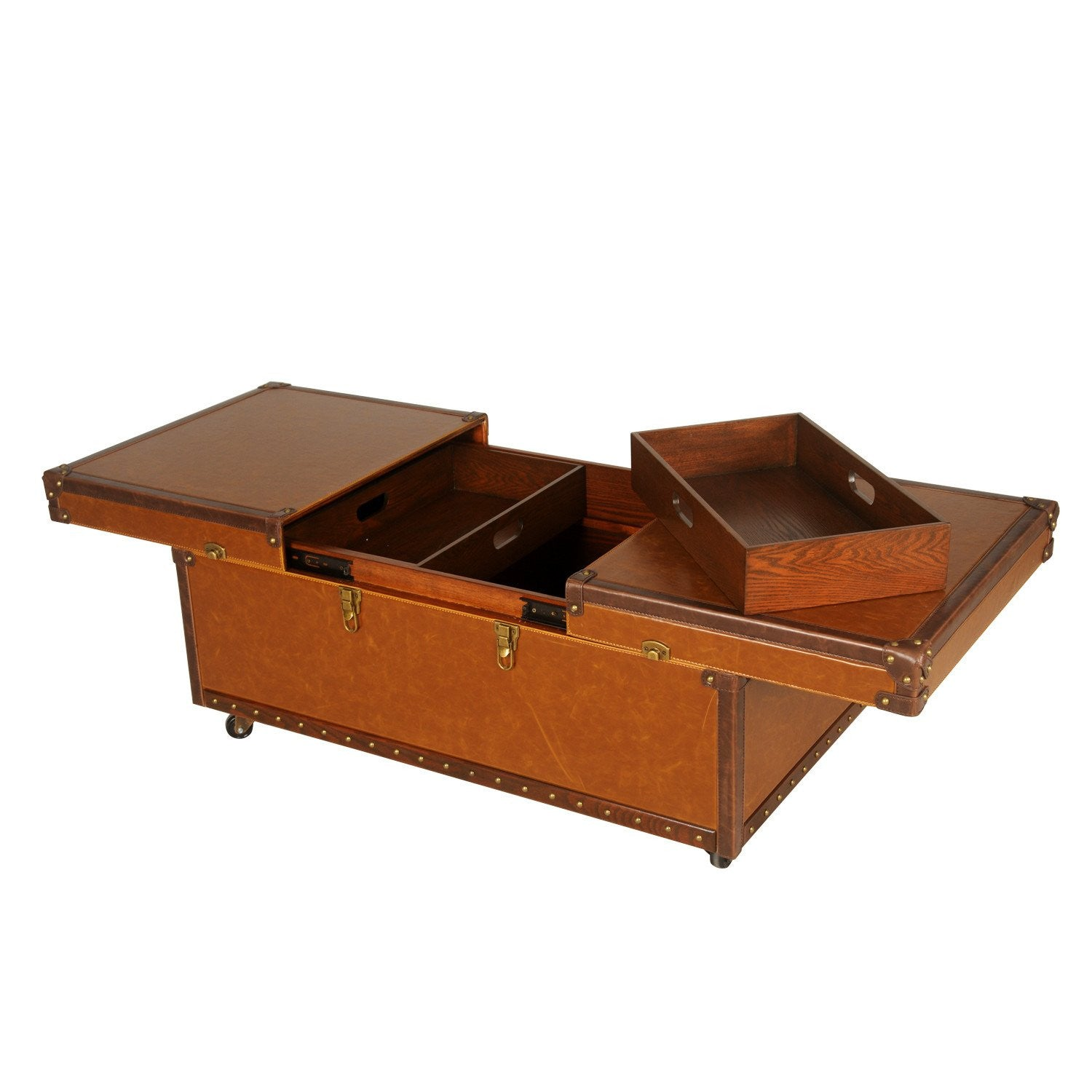 Waldorf storage trunk coffee table burnished brown apt2b waldorf storage trunk coffee table burnished brown geotapseo Images