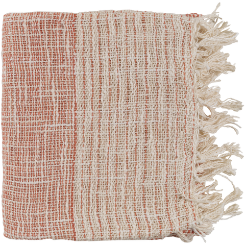 Waverly Woven Throw BURNT ORANGE