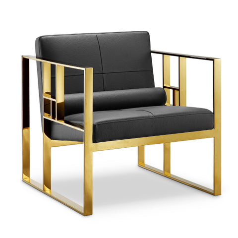 Westgate Lounge Chair BLACK/POLISHED GOLD - Apt2B - 1