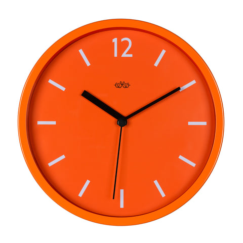 Wild Wood Wall Clock ORANGE