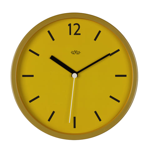 Wild Wood Wall Clock YELLOW