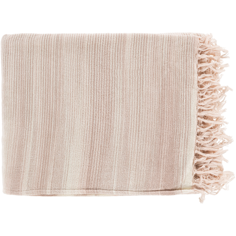 Willows Woven Throw PALE PINK