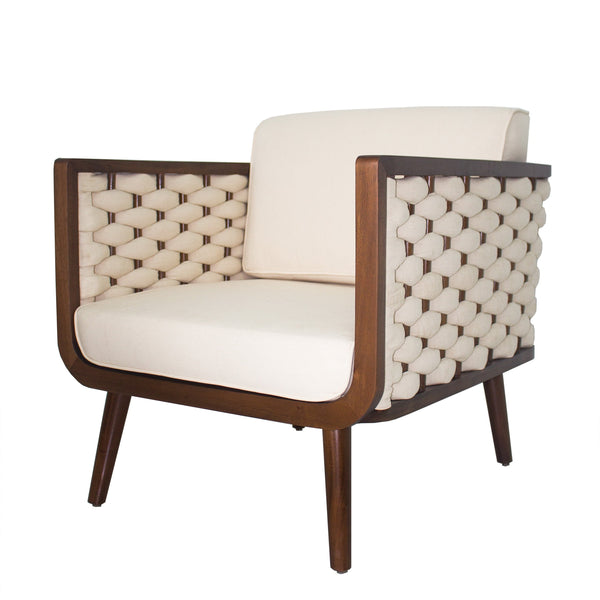 Lovely Wilshire Woven Accent Chair PEARL – Apt2B WN75