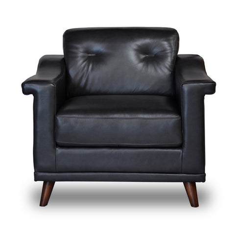 Woodbridge Leather Chair JET GREY - Apt2B - 1