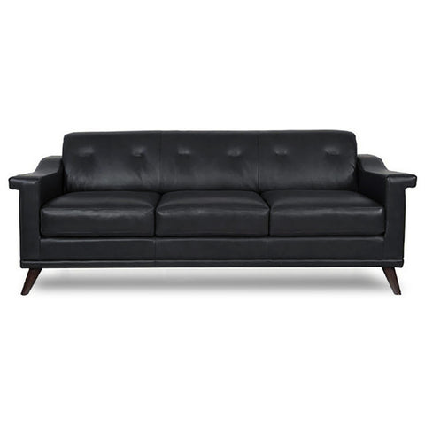 Woodbridge Leather Sofa JET GREY - Apt2B - 1