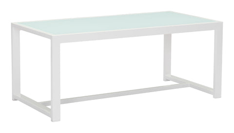 Zuma Outdoor Coffee Table WHITE