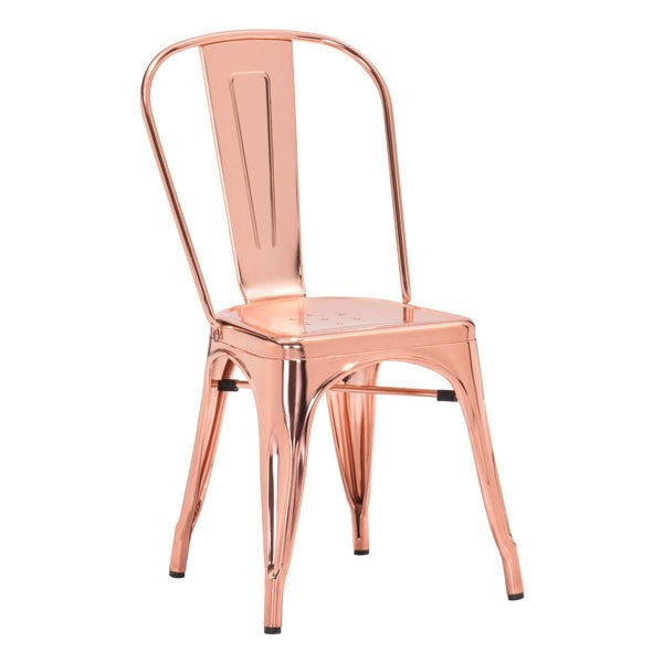 Rose Gold Anita Metal Chair Set Of 2 Apt2b