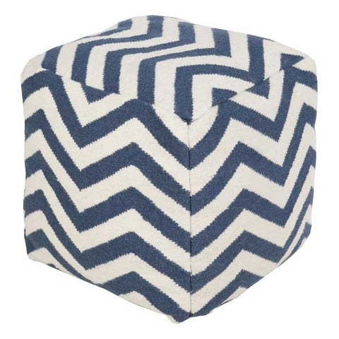 Chevron Stripes Pouf BLUE - Apt2B