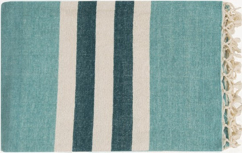 Toland Throw AQUA/IVORY/TEAL - Apt2B - 1