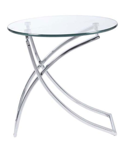 Ardmore Side Table GLASS/CHROME - Apt2B - 1