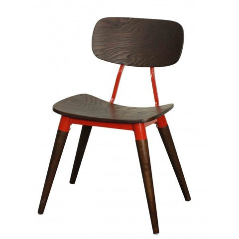 Arken Side Chair ESPRESSO/RED - Apt2B