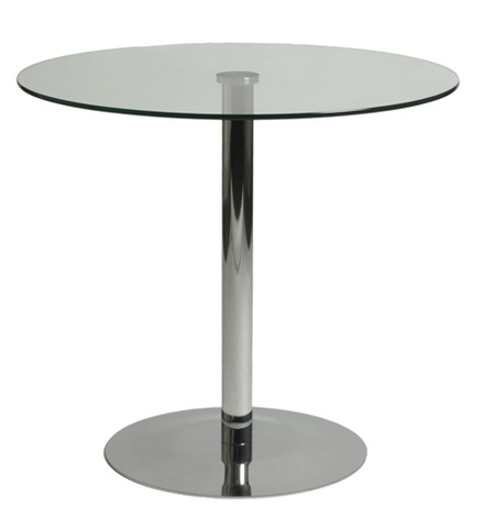 Arleta Bistro Table CHROME/GLASS - Apt2B - 1