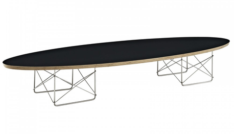 Bell Oval Coffee Table BLACK TOP - Apt2B - 1