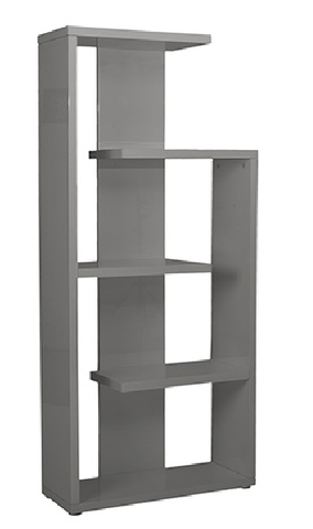 Covina 5 Shelf Modern Bookcase GRAY LACQUER - Apt2B