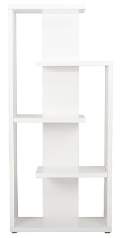 Covina 5 Shelf Modern Bookcase WHITE LACQUER - Apt2B