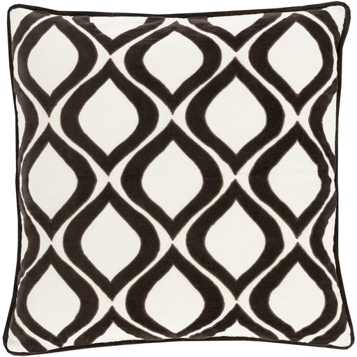 Dover Toss Pillow BLACK/IVORY