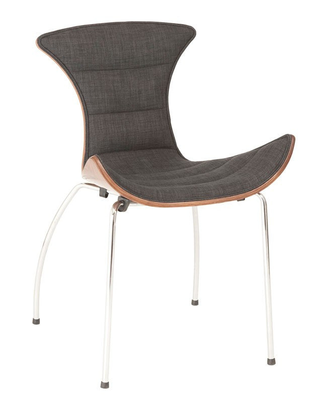 Drew Side Chair GRAY FABRIC/WALNUT