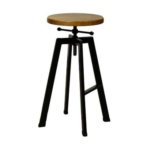 Edinburgh Bar/Counter Stool PINE/BLACK STEEL - Apt2B