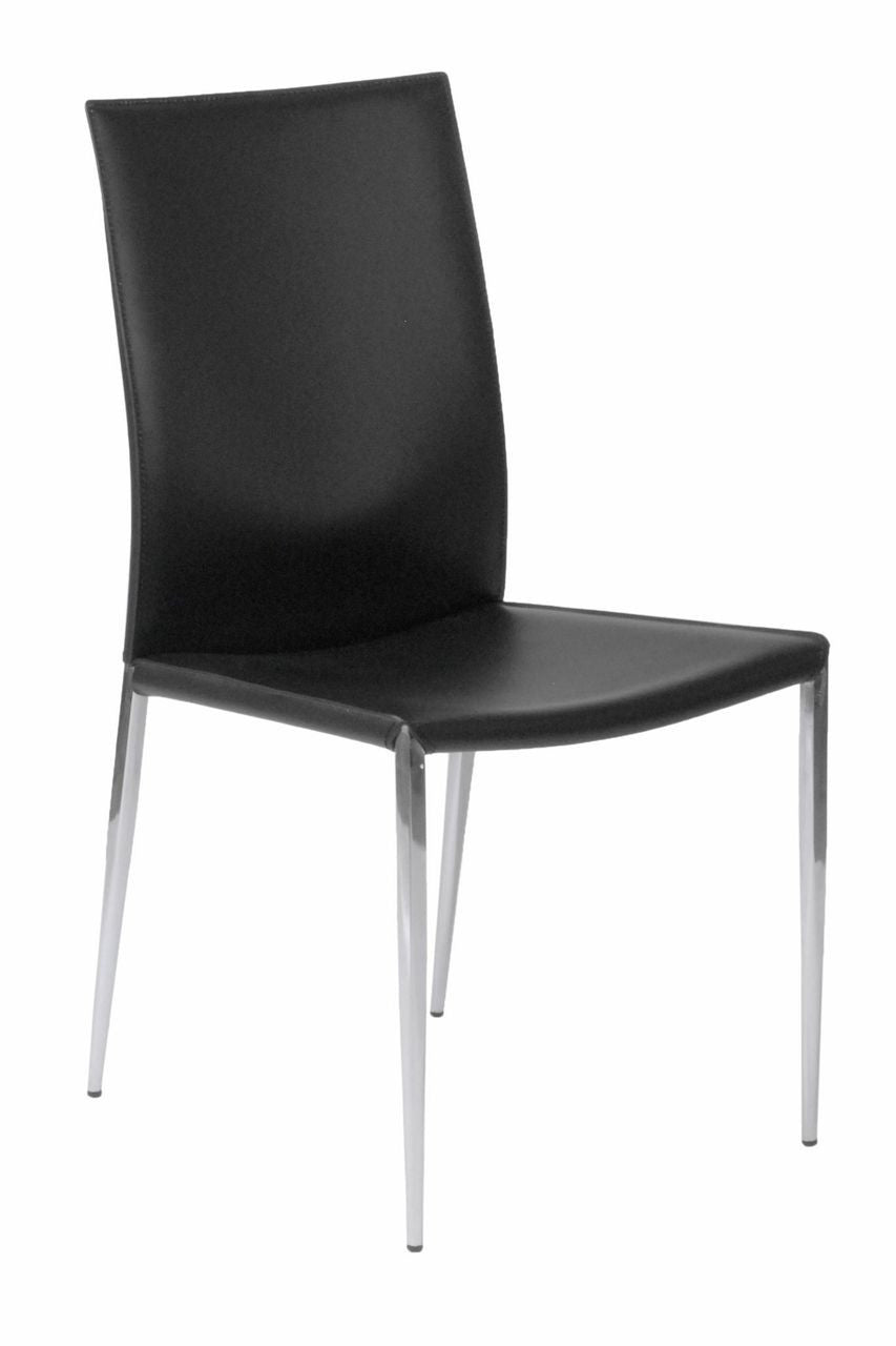 Francis Side Chair Set of 2 BLACK