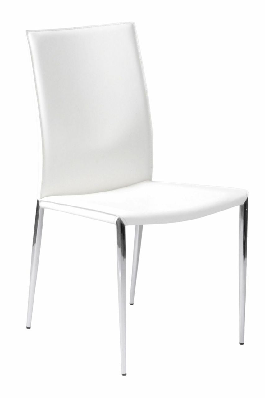 Francis Side Chair Set of 2 WHITE