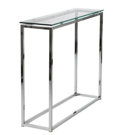 Gardner Console Table GLASS TOP/CHROME   Apt2B