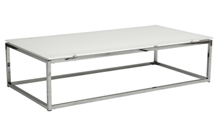 Gardner Coffee Table WHITE TOP/CHROME - Apt2B - 1
