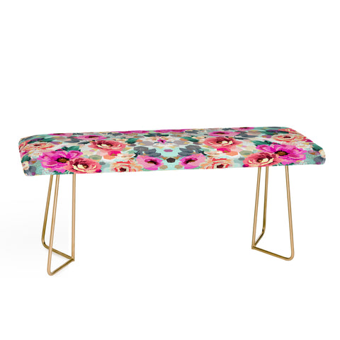 ABSTRACT GEOMETRICAL FLOWERS Bench by Marta Barragan Camarasa