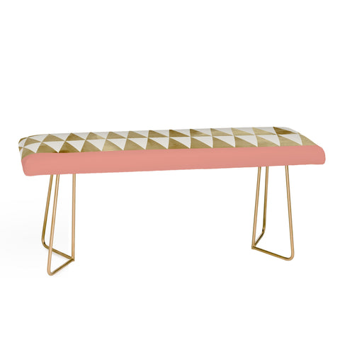 GOLD TRIANGLES Bench by Georgiana Paraschiv