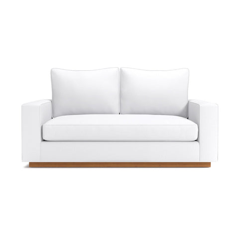 Harper Apartment Size Sofa in WHITE - CLEARANCE