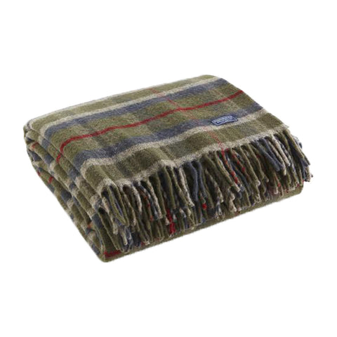 Hatchet Plaid Throw by Faribault OLIVE/PLAID - Apt2B - 1